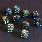 12mm Magma Spot Dice - Smoke